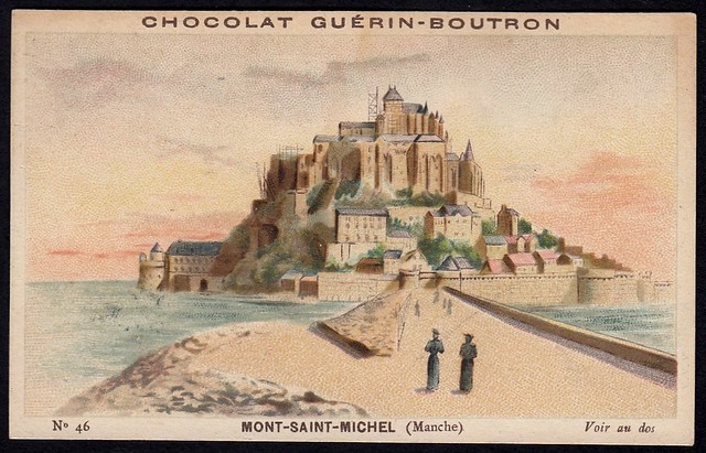 French Tradecard - Mont Saint Michel