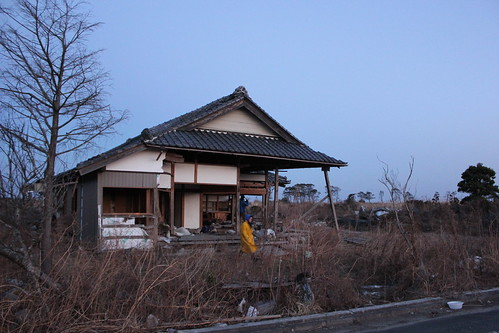 Fukushima ruins, after the tsunami