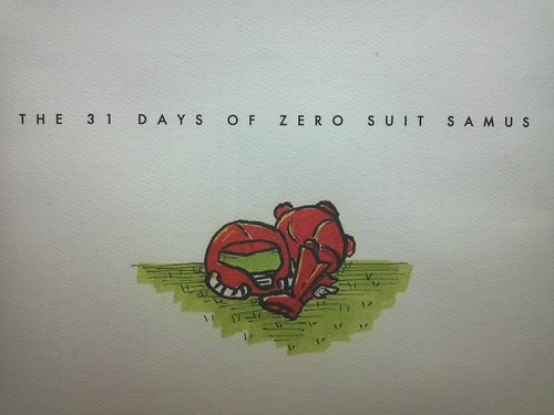 The 31 Days of Zero Suit Samus - Book Cover (Dust Jacket), Close-Up