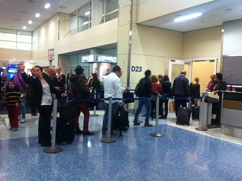 Passengers boarding the first American Airlines 777-300ER