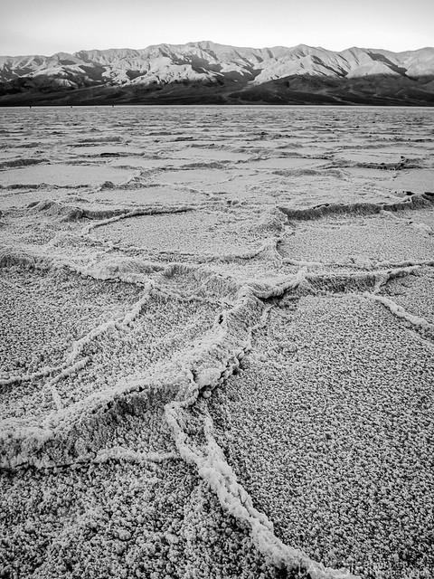 salt flats at Death Valley