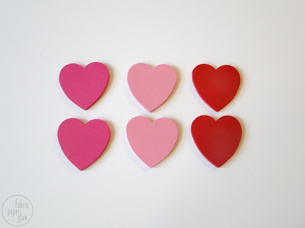 Wood Heart Clips 2