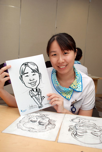 caricature live sketching for Khoo Teck Puat Hospital, Nurses' Day - 11
