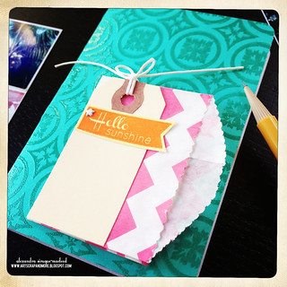 Penny Black DT - how to make a booklet cover with background stamps