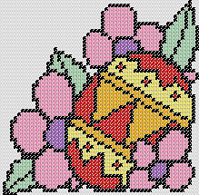 Preview of Cross Stitch printable Easter Egg pattern