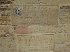 Photo of Oliver Cromwell stone plaque