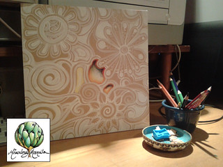 painting on particle board - work in progress - by miraculous mosquito copy