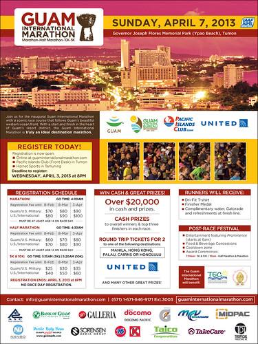 (LOWRES) - Guam Intl Marathon Poster