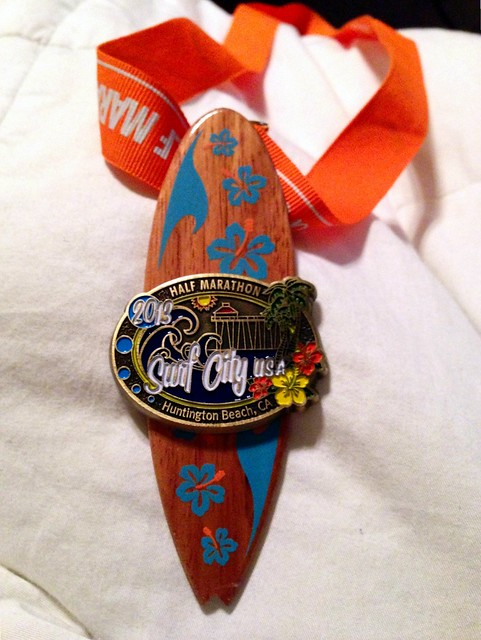 Surf City Half Marathon Finisher's Medal 2013