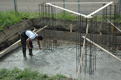 greenhouse(0.0), outdoor structure(0.0), wall(0.0), foundation(1.0), construction(1.0),