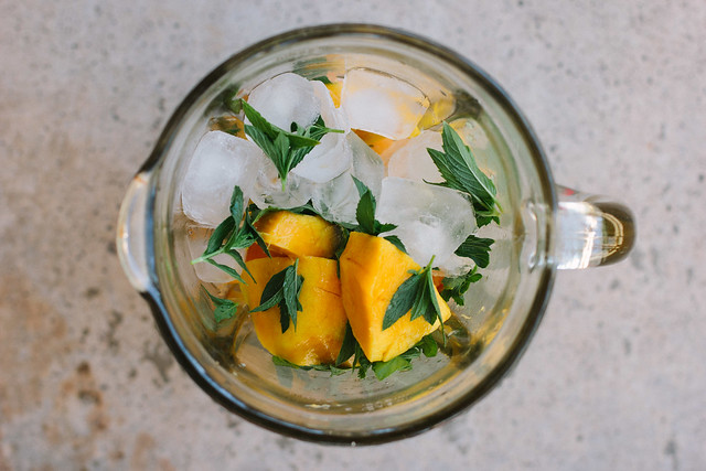 my darling lemon thyme: mango, mint + lime lassi recipe