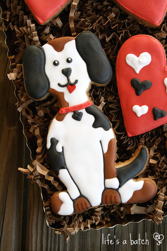 Dog Valentine cookies.