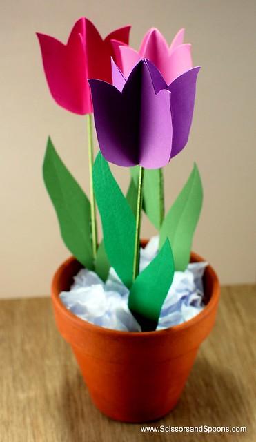 winter pinterest challenge  diy paper tulips