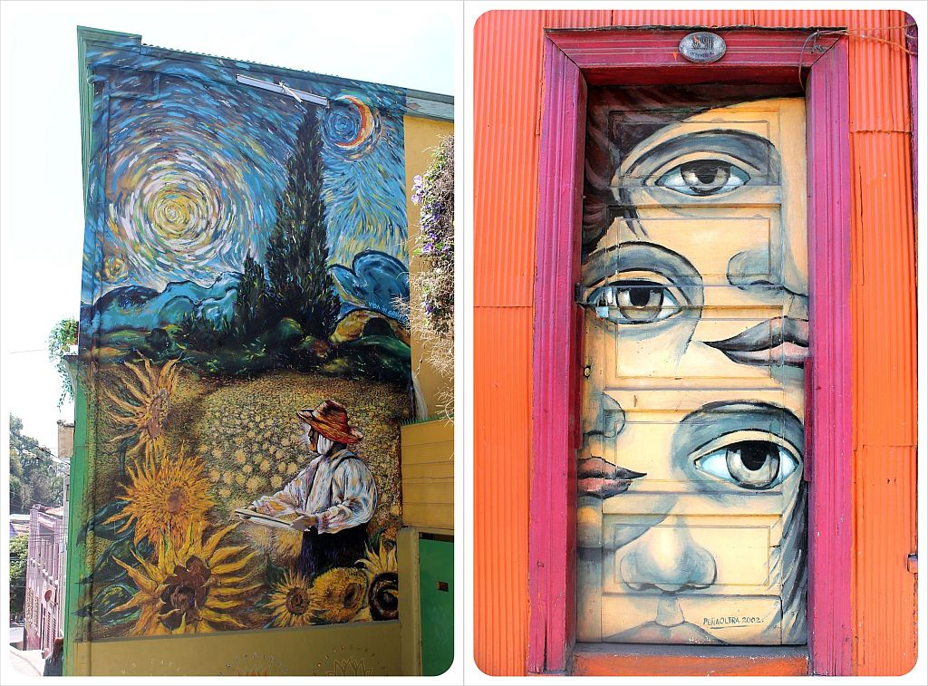 Valparaiso door with graffiti
