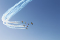 Jet fighters show at Kuwait National Day 2013
