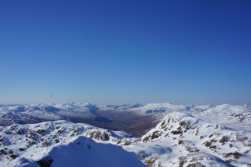 Looking West into Glen Lochay from the summit of Meall Garbh