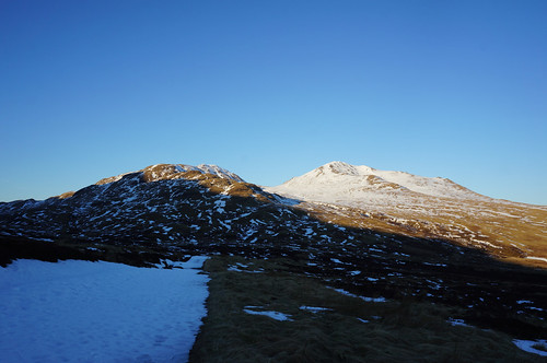 Looking along the track out towards Beinn Ghlas