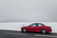 Balade dans la neige - Au bord de la route