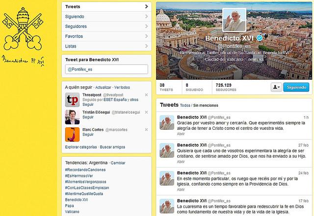 Ultimos Tuits de Benedicto XVI