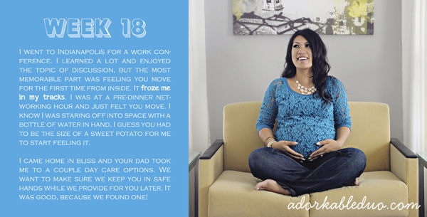 documenting maternity in an album page, week 18