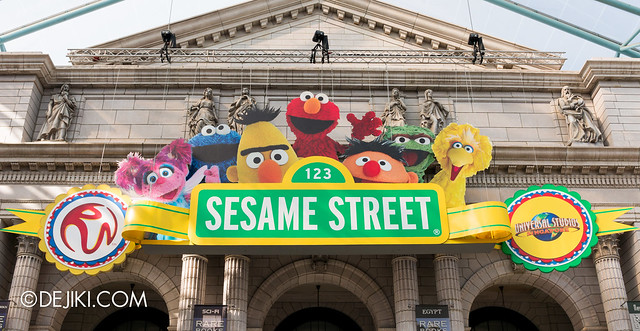 New York Library - Sesame Street overlay close-up