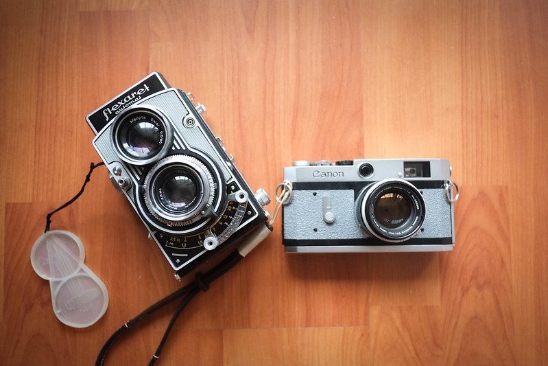 Canon P and Flexaret VI