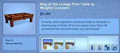 King og the Lounge Pool Table by Weighty Concepts