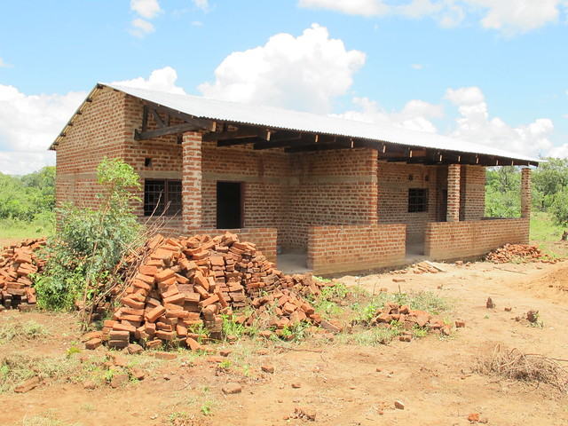 Health Post under construction in  Magobo, Katete District, Zambia
