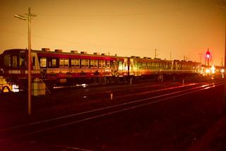 夜の大洗駅。