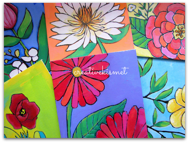 little flower paintings