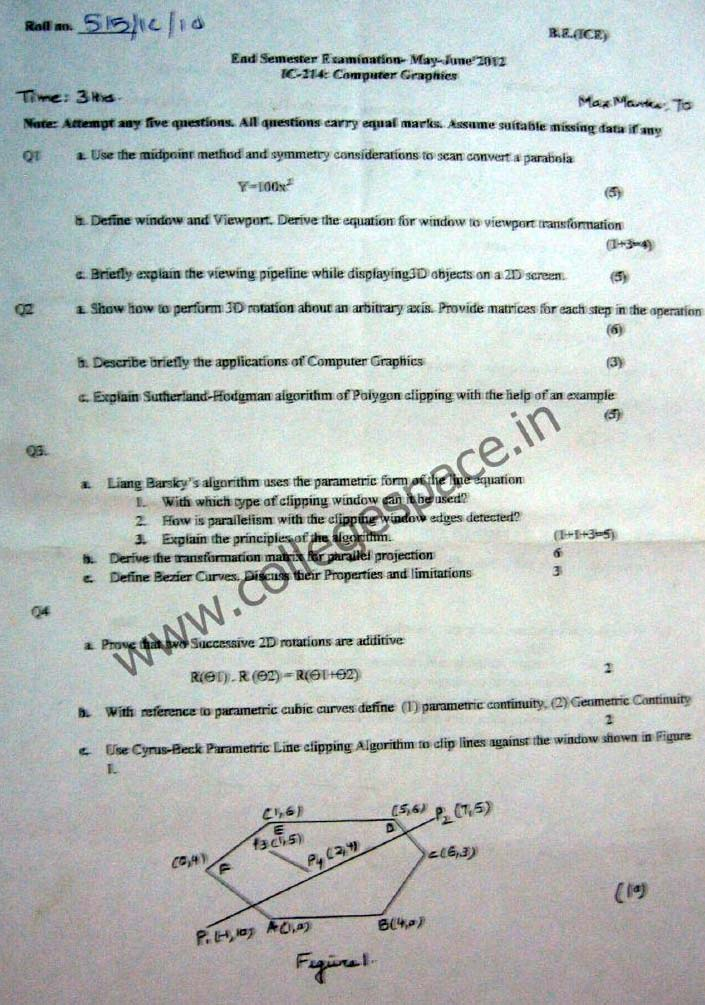 NSIT Question Papers 2012 – 4 Semester - End Sem - IC-214