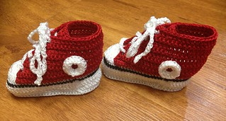 Crocheted Baby Hi-Tops