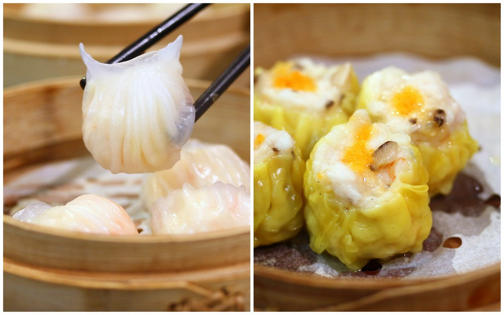 Imperial Treasure Nan Bei Restaurant: Har Gao on the left & Siew Mai on the right