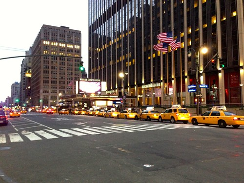 Yellow Cabs and Madison Square Garden
