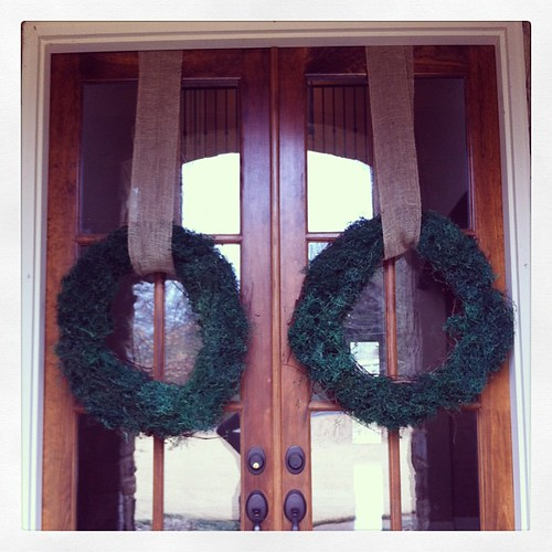 Maybe if I put our Spring wreaths up the weather will stay warm!  #readyforspring