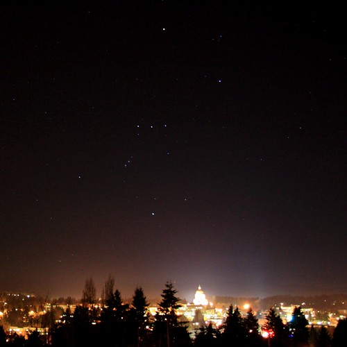 Orion the Hunter over the Capitol #olywa