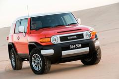 automobile(1.0), automotive exterior(1.0), toyota(1.0), sport utility vehicle(1.0), vehicle(1.0), toyota fj cruiser(1.0), compact sport utility vehicle(1.0), off-roading(1.0), compact car(1.0), bumper(1.0), land vehicle(1.0), luxury vehicle(1.0),