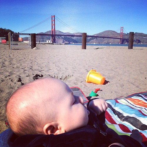 Mattias meets the Golden Gate Bridge.