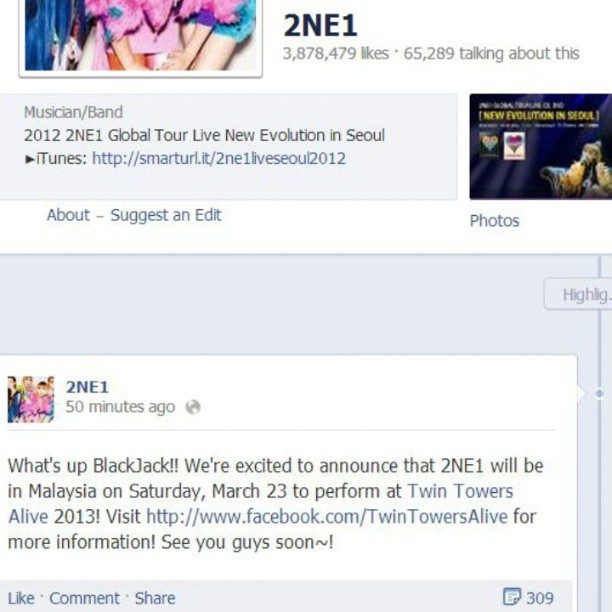 2ne1 akan perform di Twin Tower Live Concert Day 2.