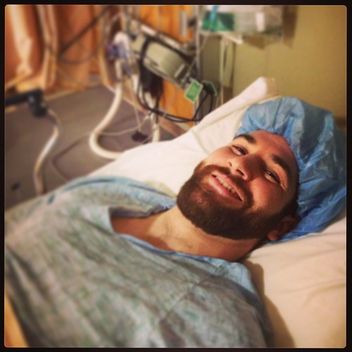 Handsome and headed for an appendectomy