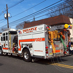 Tenafly Fire Truck, 2013 Bergen County St. Patrick`s Day Parade, Bergenfield, New Jersey