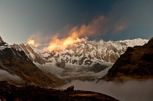 nepal mist mountain clouds trekking trek himalayas annapurnabasecamp likefire annapurna1
