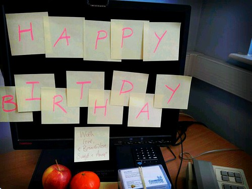Happy Birthday Post-it notes