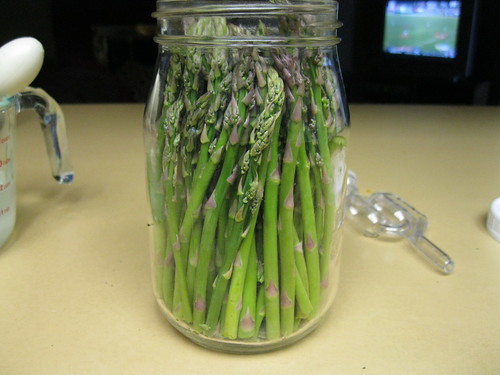 loaded with asparagus
