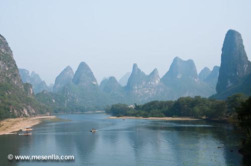 Montañas cársticas alrededor del rio Li