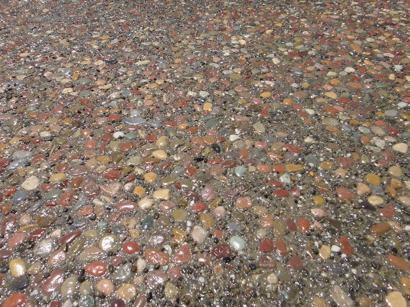 Plum Creek Exposed Aggregate Patio Close Up