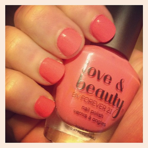 This nail polish color reminds me of summer. Perfect for a bleak and dreary day.