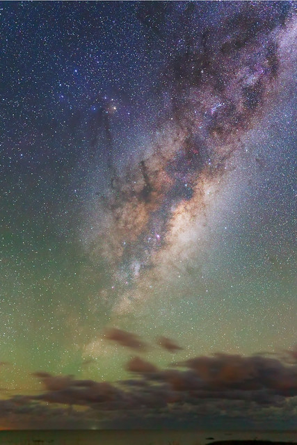 Airglow at the Milky Way