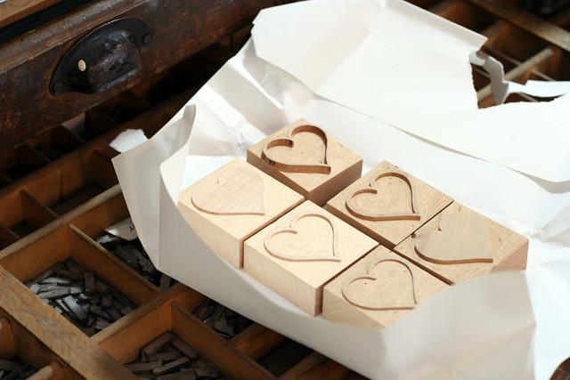 Woodtype_Hearts