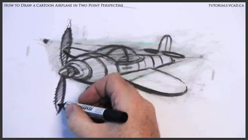 learn how to draw a cartoon airplane in two point perspective 041